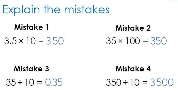 Explain Mistakes