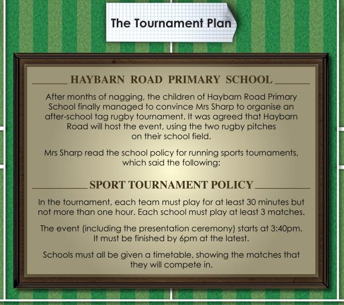 Tournament Plan